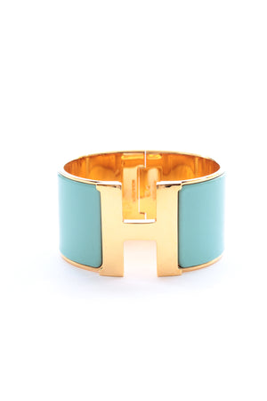 Hermes Clic Clac H XL Gold-Plated and Enamel Bracelet