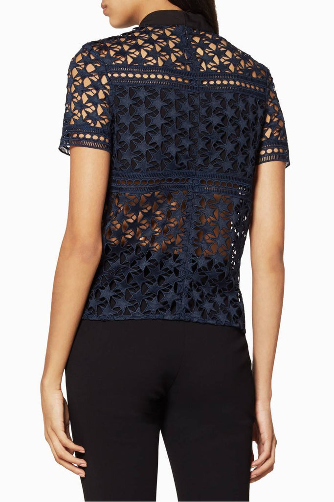 Self-Portrait Star Repeat Lace Top