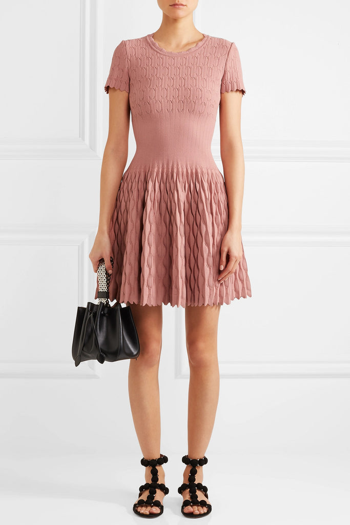 Alaïa Trinidad Knitted Mini Dress