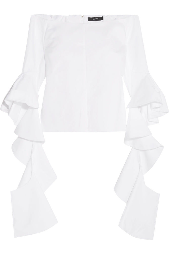 Ellery 'Delores' Off-The-Shoulder Cotton Top