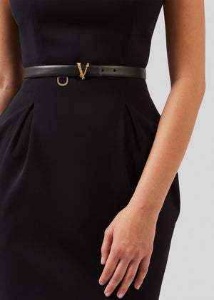 Versace Virtus Thin Leather Waist Belt - Current season