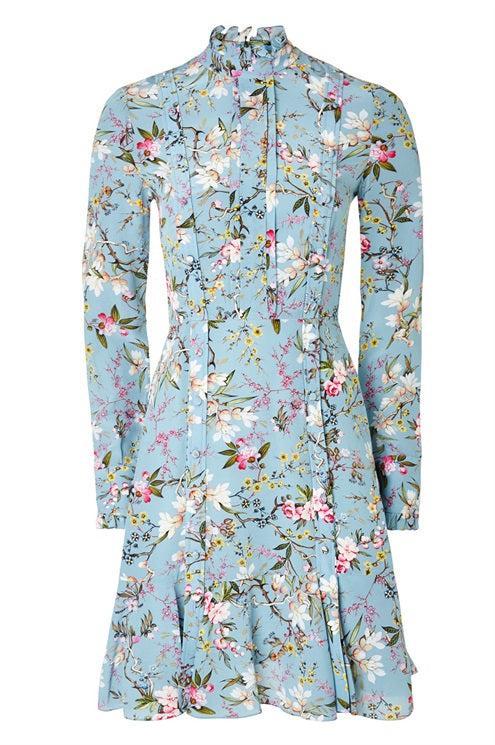 Erdem 'Betty' Silk Floral Printed Dress