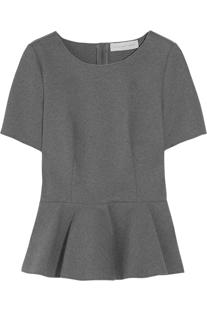 Stella McCartney Stretch-Cotton Peplum Top