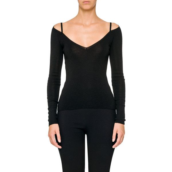 Prada Cashmere-Silk Off-Shoulder Sweater