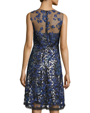 Elie Tahari 'Olive' 3D Floral Appliqué Dress