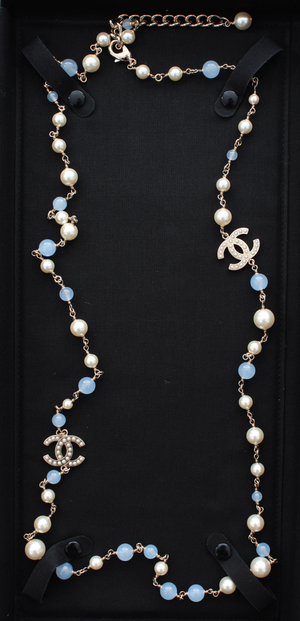 Chanel CC Pearls Long Necklace