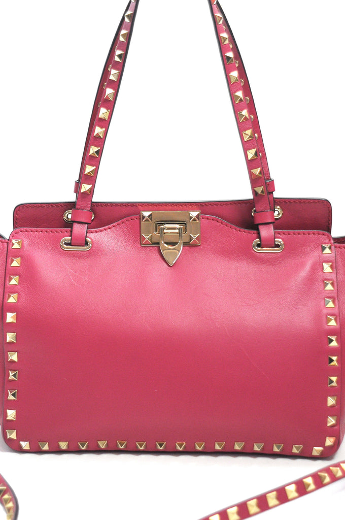 Valentino Rockstud Small Leather Tote Bag, Women's Handbags, Valentino, Closet Upgrade - Closet-Upgrade