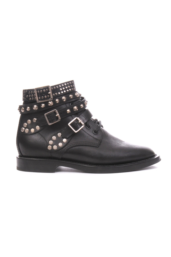 Saint Laurent Signature Rangers Studded Leather Boots, Boots, Saint Laurent, Closet Upgrade - Closet-Upgrade