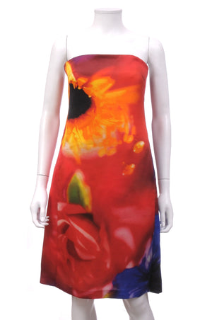 Celine Silk Strapless Abstract Floral Dress, Dresses, Celine, Closet Upgrade - Closet-Upgrade