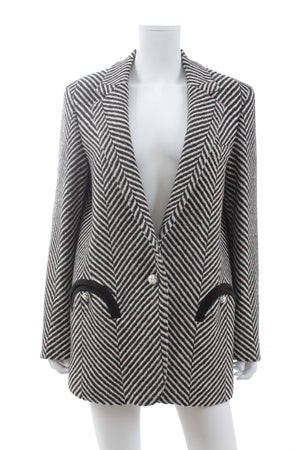 Blazé Milano 'Sedov Weekend' Oversized Herringbone Wool Blazer
