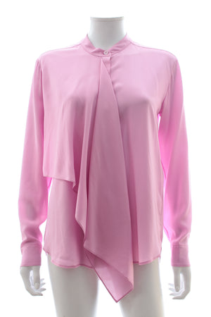 Stella McCartney Draped Front Silk Blouse
