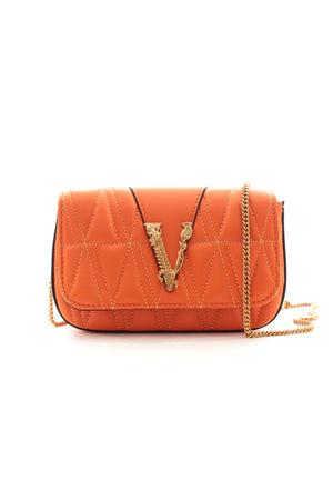 Versace 'Virtus' Mini Quilted Leather Shoulder Bag