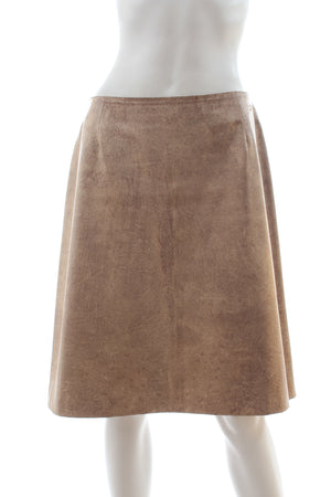 Chanel Metallic Leather Skirt