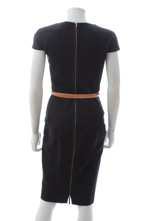 Victoria Beckham Belted Cotton-Blend Dress