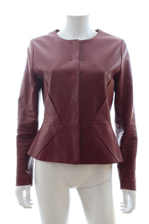 Paule Ka Lamb Leather Jacket