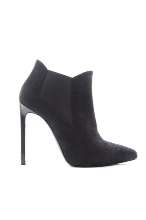 Saint Laurent 'Paris' Glitter Ankle Boots