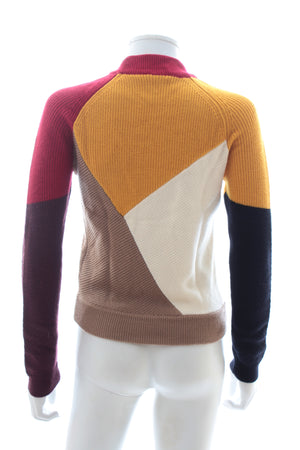 Carven Merino Wool Colour Block Sweater