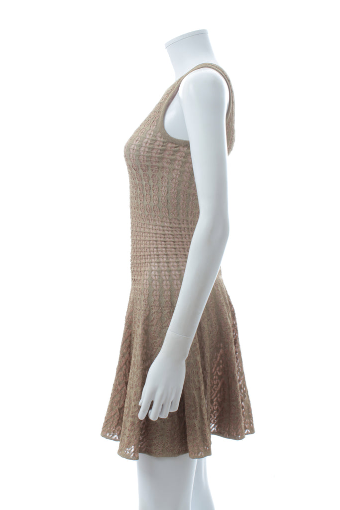 Alaïa Metallic Knit Sleeveless Dress