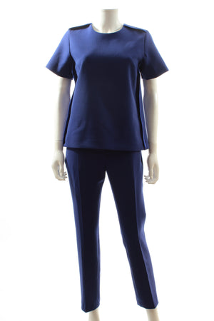 Victoria, Victoria Beckham Sponge Wool-Blend Top and Trousers