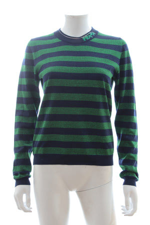 Prada Striped Wool-Blend Lurex Sweater