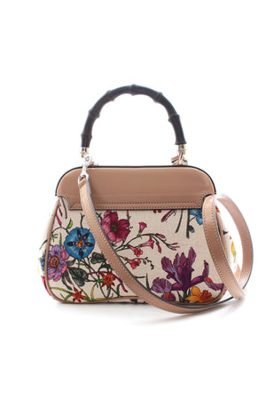 Gucci 50th Anniversary Flora Bamboo Handle Cross-body Bag