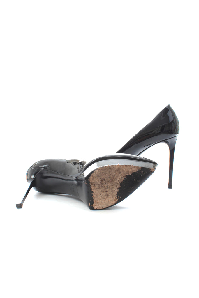 Saint Laurent Janis Patent Leather Pointed-Toe Pumps