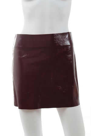 Maje 'Gratis' Patent Leather Mini Skirt