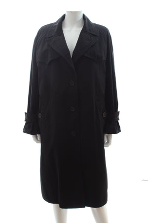 Prada Faux-Fur Lined Cotton Trench Coat