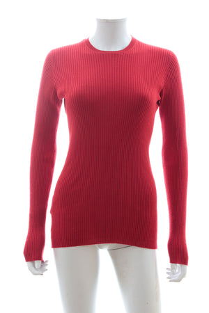 Prada Ribbed Wool-Silk Blend Sweater