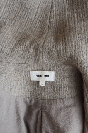 Helmut Lang 'Willowed' Felt and Leather Jacket
