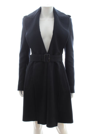 Burberry Wool-Blend Tailored Belted Coat