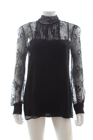 Prada Lace Pleated Blouse