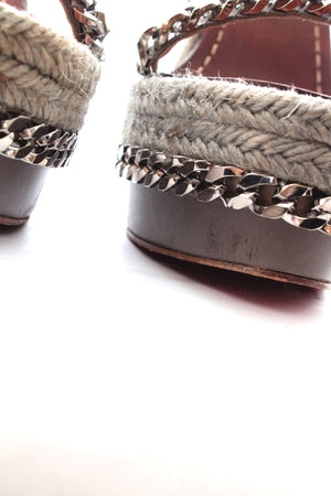 Christian Louboutin Macarena 120 Chain Espadrille Wedge Sandals