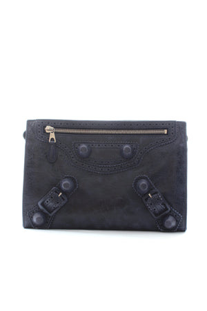 Balenciaga Giant Brogues Covered Leather Travel Clutch Bag