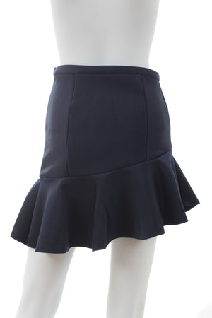 Maje Gourmand Neoprene Ruffled Mini Skirt
