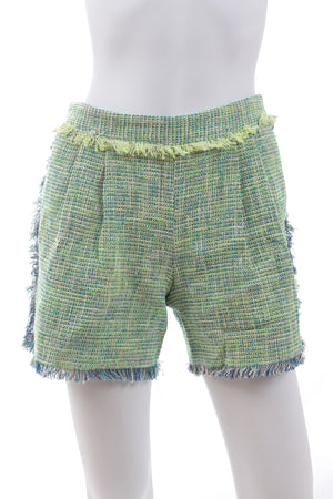 MSGM Fringed Tweed Shorts