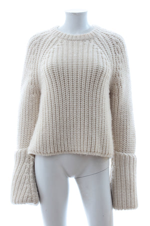 Celine Rolled Cuff Wool Knit Sweater