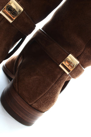 Dior Suede Riding Boots