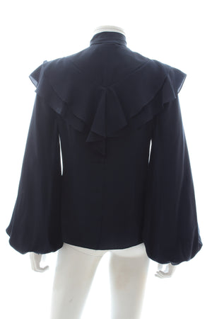 Peter Pilotto Ruffled Silk-Georgette Blouse