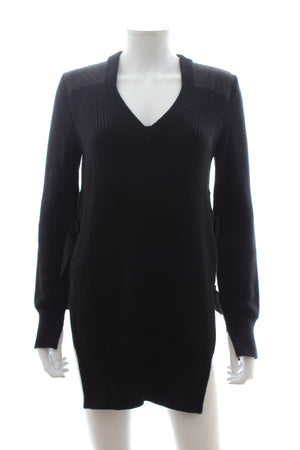 Rag & Bone Buckled-Side Cotton Knit Sweater