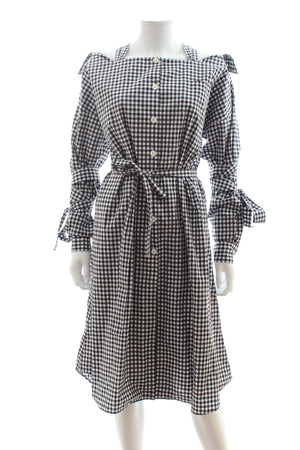 Prada Vichy Check Cotton Chemisier Dress
