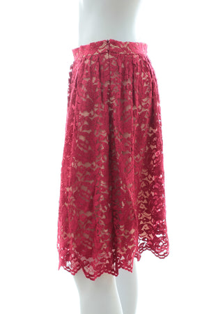 Erdem 'Madeleine' Lace and Silk Skirt