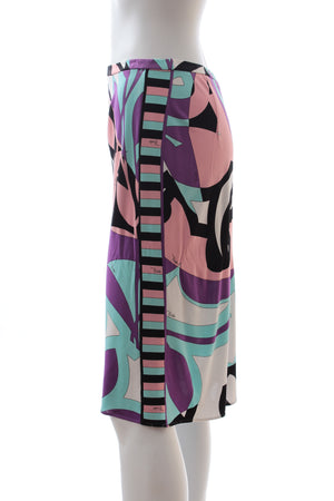 Emilio Pucci Printed Jersey Skirt
