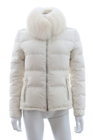 Prada Fox Fur Trimmed Down Coat