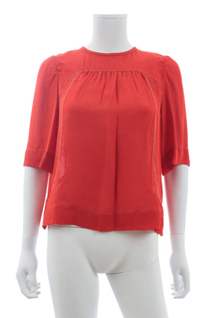 Isabel Marant Bead-Embellished Silk Blouse