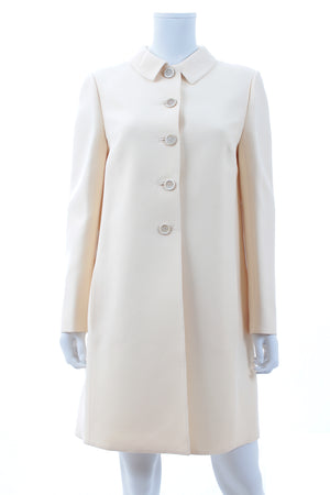 Valentino Inverted Back Pleat Wool-Silk Coat