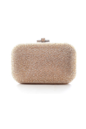 Judith Leiber Crystal-Embellished Leather Box Clutch