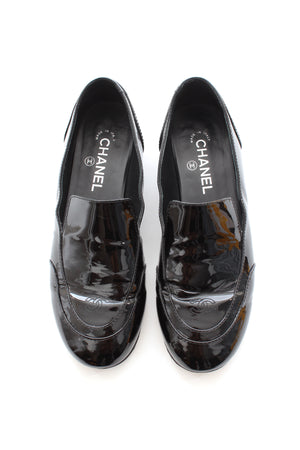 Chanel Patent Leather Loafers