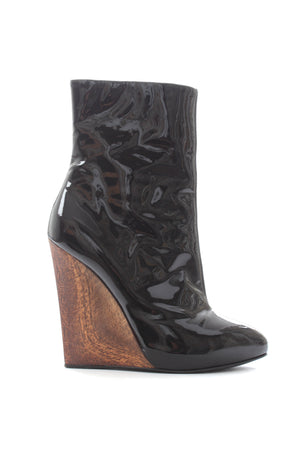 Giuseppe Zanotti Patent Leather Wedge Boots