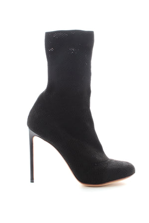 Francesco Russo Pointelle-Knit Cotton Sock Boots
